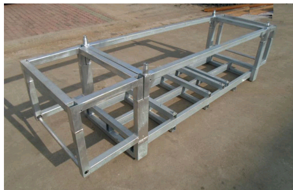 OEM folding steel logistics pallet for special equipment machine