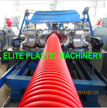Flexible HDPE/PP Single Layer Corrugated Pipe Machine EDB-200