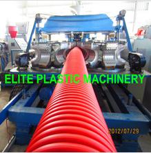 Flexible HDPE/PP Single Layer Corrugated Pipe Machine EDB-200
