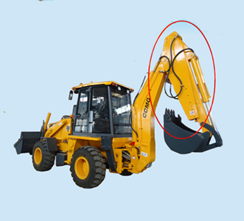 telescopic backhoe loader, long arm backhoe,  four wheel excavator price