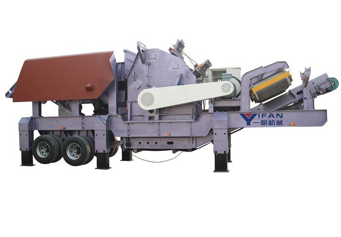 环保型建筑垃圾处理设备—移动式破碎站