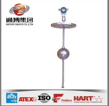 Magnetic ball float level transmitter