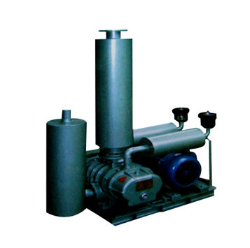 Air-cooled vacuum pump unit for vacuum immersion treatment
