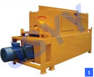 Dry drum separator