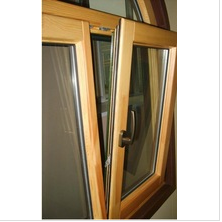 top quality aluminum wood composite window