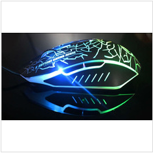 New USB 2.0 wired gaming mouse,7 colour dazzle light gaming wired mouse LED light