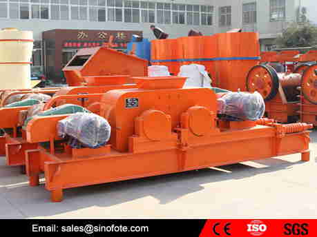 High strength double stone roller crusher