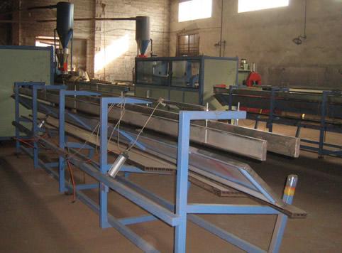 PE、PP和PVC木塑型材生产线