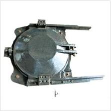 Round insert copper cast iron gate