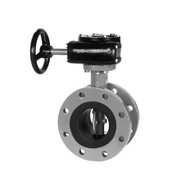 Hand-operated SS 316 Exhaust ISO 5752 Wafer 1-inch Butterfly Valve