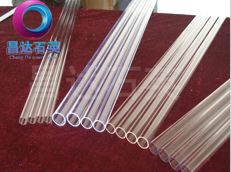 High purity quartz transparent heat-resistant glass tube