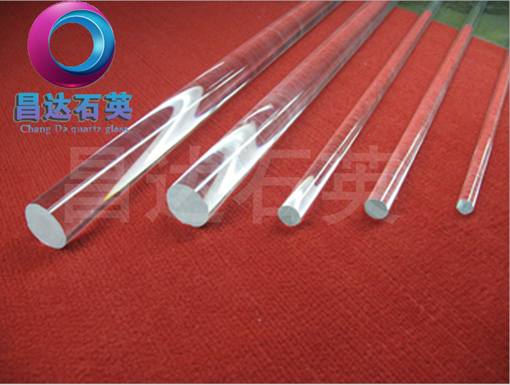 Transparent optical high purity quartz rod