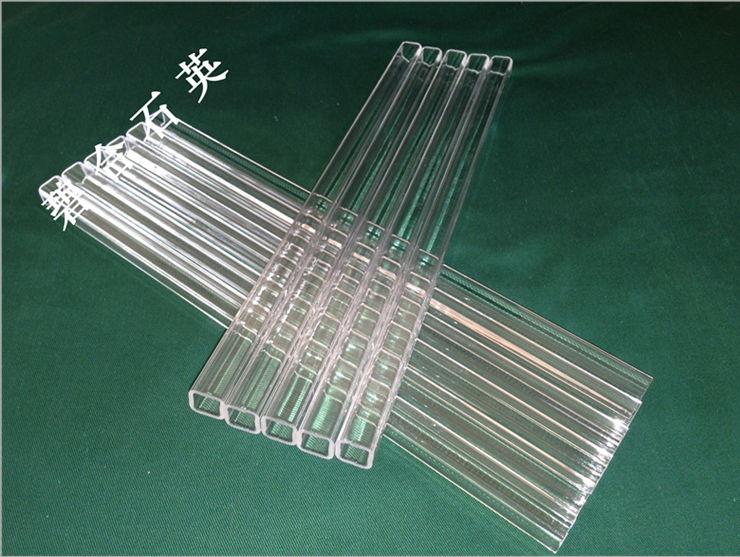 Quartz square tube