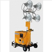 4*1000w Portable Contruction Mobile Tower Light 9M