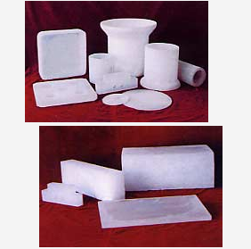 Opaque quartz glass products