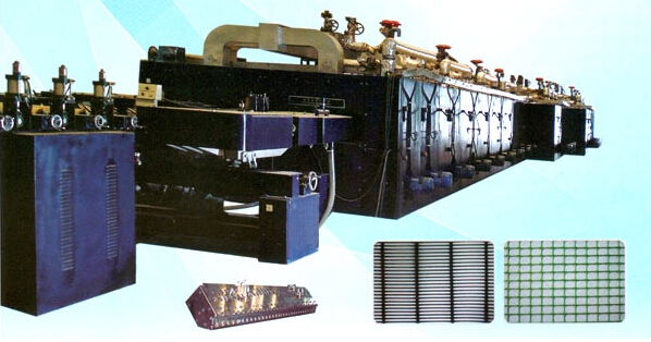 PP biaxial geogrid machine, plastic machiery