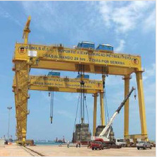 250/50+250t double-trolley gantry crane for Angola