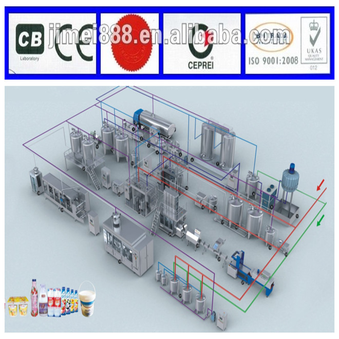 milk production line machinery