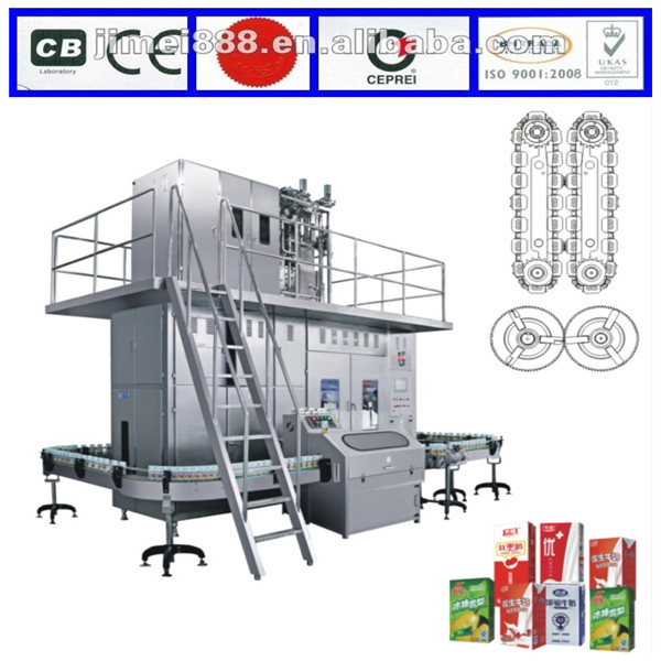 JIMEI aseptic  uht dairy milk filling machine