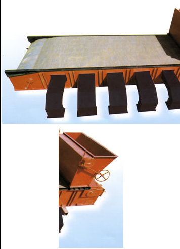 Leaning and Horizontal large flake fire grate