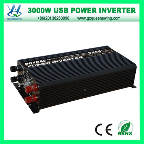 Home Use 3000W DC12/24V AC220/110V Solar Power Inverter (QW-3000MC)