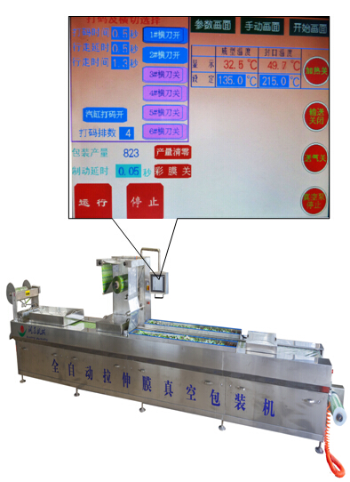 automatic stretch film vacuum packing machine