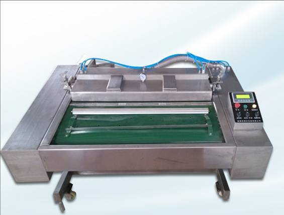 Pneumatic continuous vacuum packaging machine