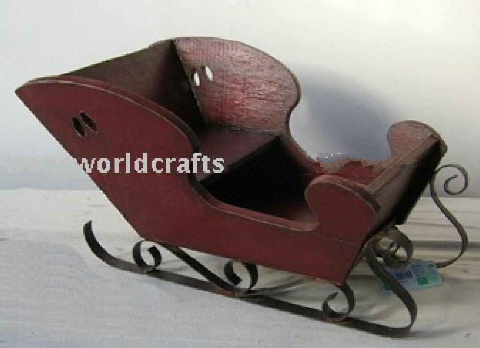 Christmas decorative wooden sled