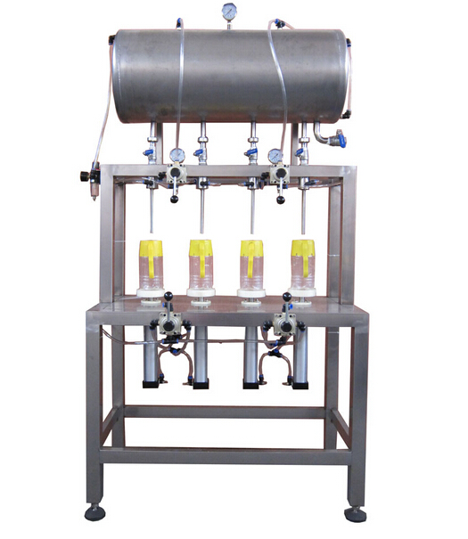 four-head manual filling machine( 1.5-2.0 L open type)