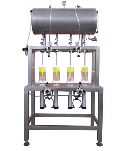 four-head manual filling machine( 1.5-2.0 L open type)