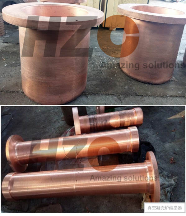 Copper crucibles for VAR furnace vacuum arc remelting furnace