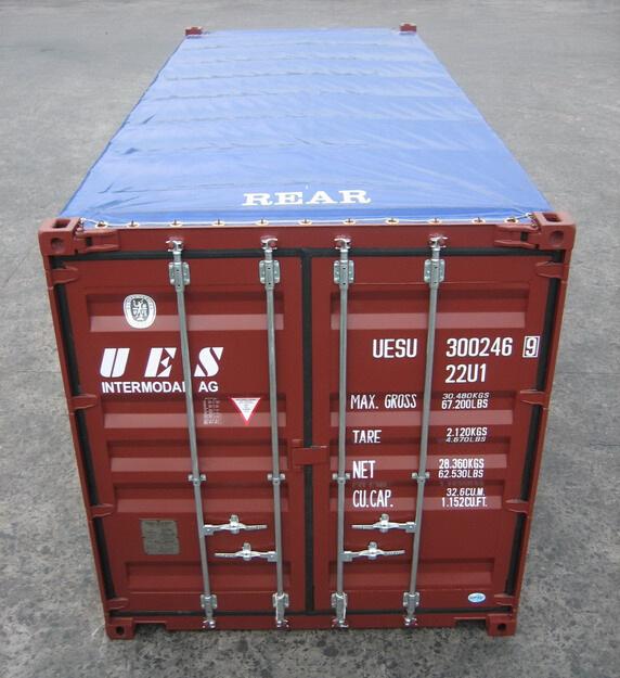 Стальной контейнер мягкой крыши для открытия