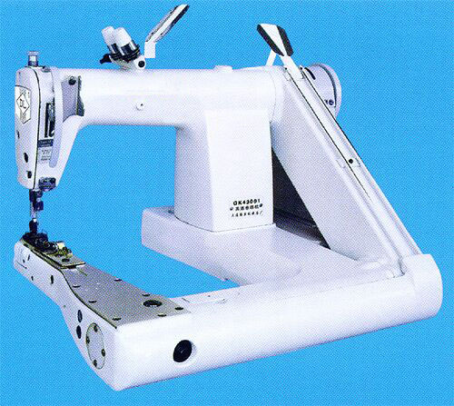 High speed feed-off-the-arm double chain stitch machine