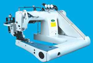Heavy duty double chain stitch feed-off-arm sewing machine (with cloth puller)