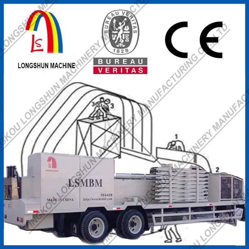 Универсальная строительная машина серия LS-UBM по производству арочных сооружений по модели LS-UBM120