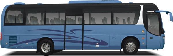 Большой пассажирский автобус DD6119K50/K51