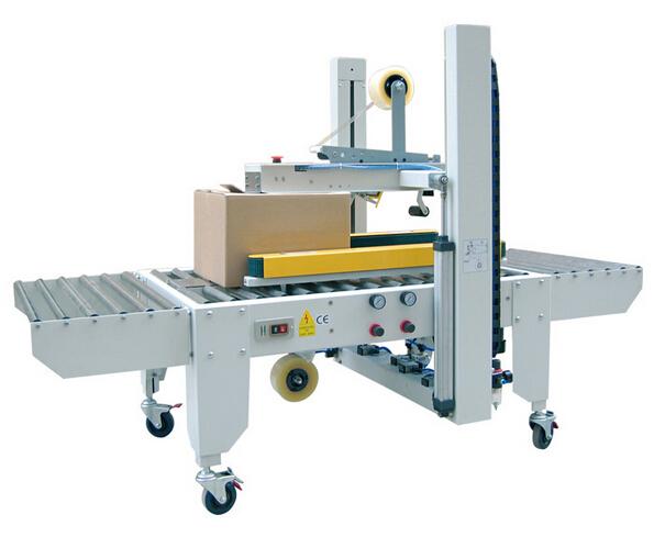 Полуавтоматическая машина для закрытия ящика  устройство для закрытия ящика верхним и нижним приводами