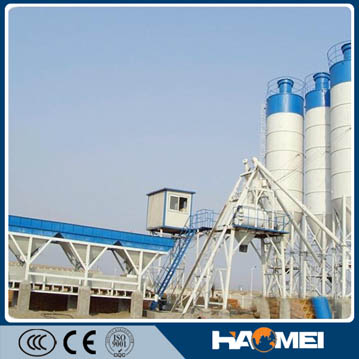 Turnkey service skip type simple commercial concrete mixing plant supplier