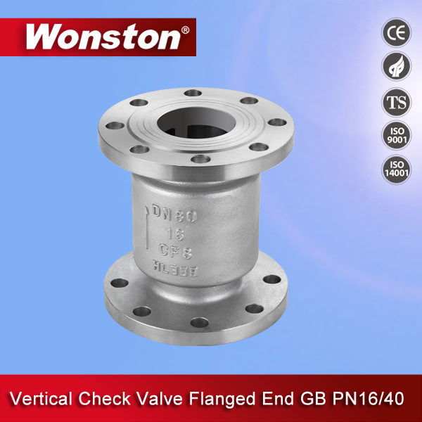 Vertical Check Valve Flanged End GB PN16/40