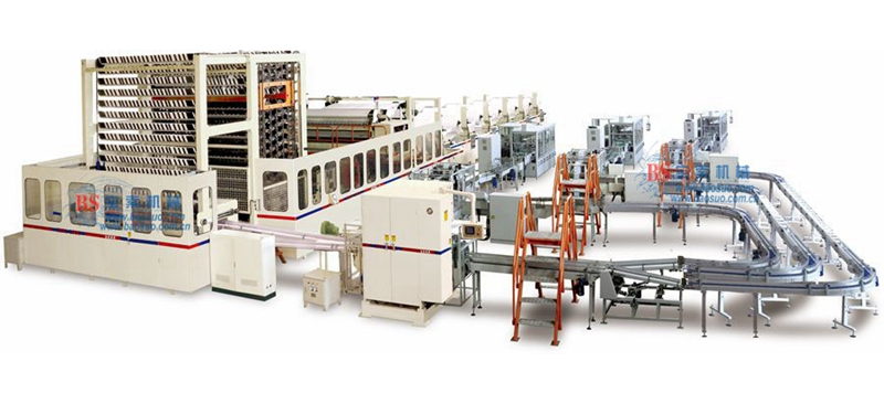 宝索YH-PL2900/3600全自动抽式面巾生产线
