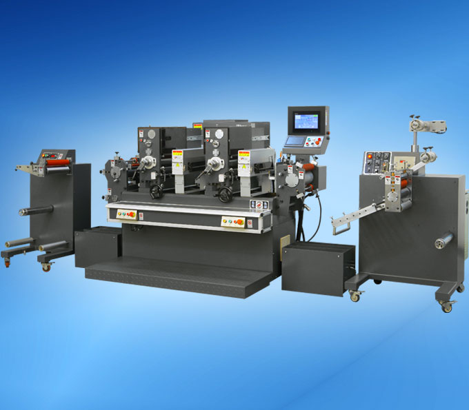 JH-300 Intermittent Label Printing Machine with 2 colors