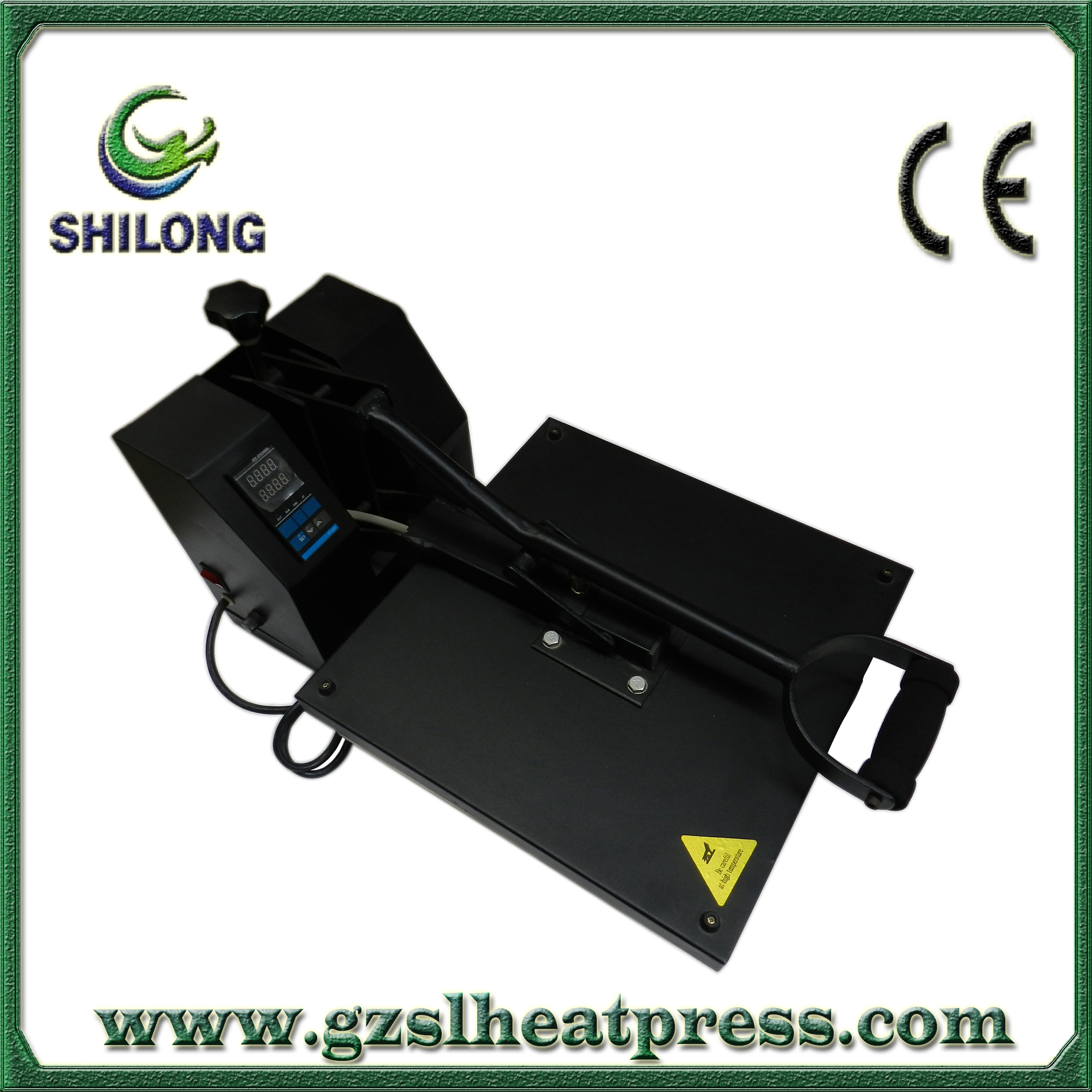 15-by-15 inch high quality small size hot transfer machine heat press machine for T shirt manufacturer China (CE certification)