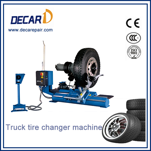Heavy duty truck tire changer for garage