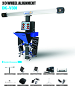 CE approved 3D wheel aligner system for garage