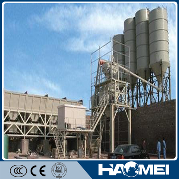 High mixing capacity and advanced stationary concrete batching plant