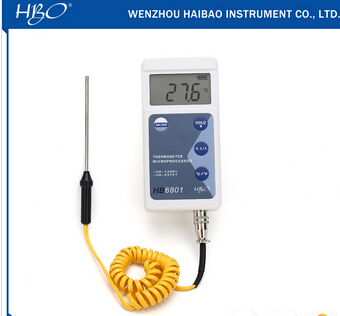 LCD display type K thermocouple probe temperature tester
