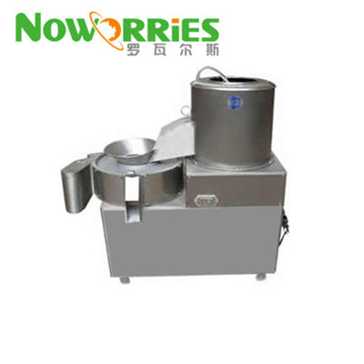Potato cutting and peeling machine