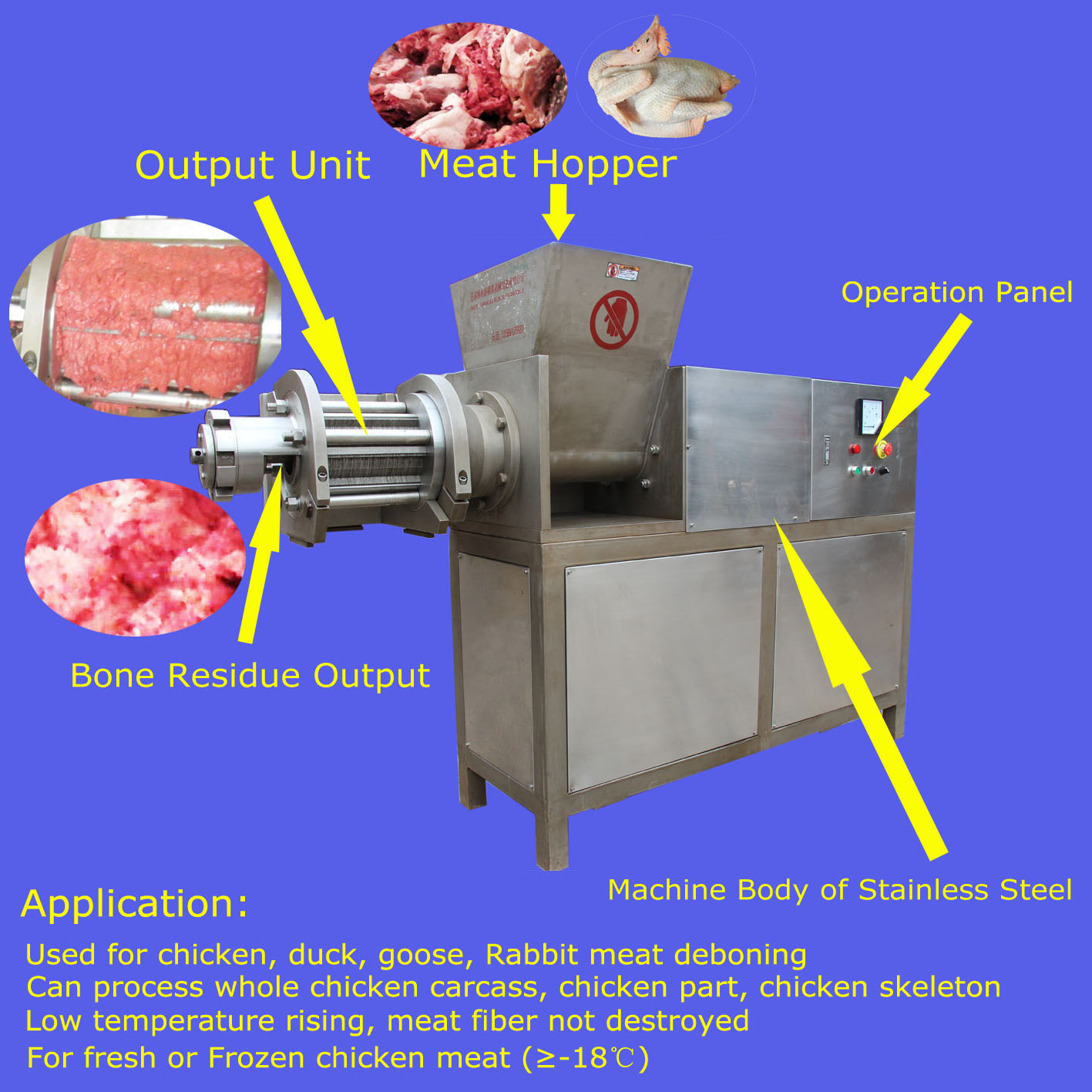 poultry meat separator TLY2000 with CE certificate