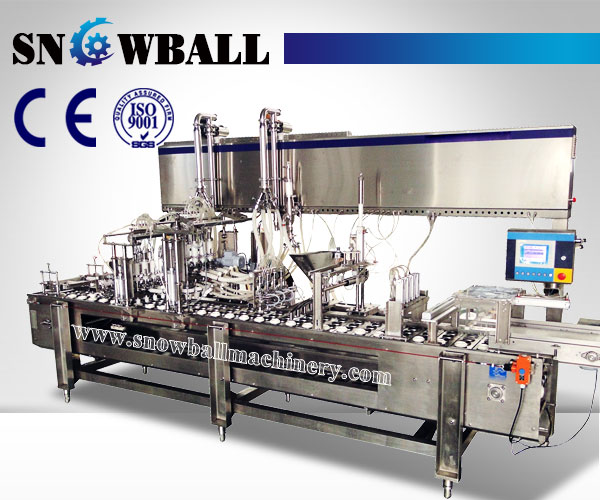 Linear Ice Cream Filling Machine, Cornetto Filling Machine, In-Line Ice Cream Filling Machine
