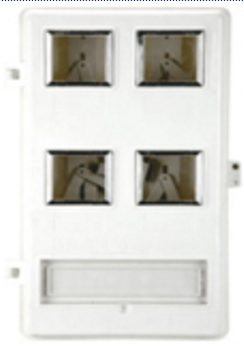 SC102-4 Single Phase 4-position Meter Box (anti-tampering)
